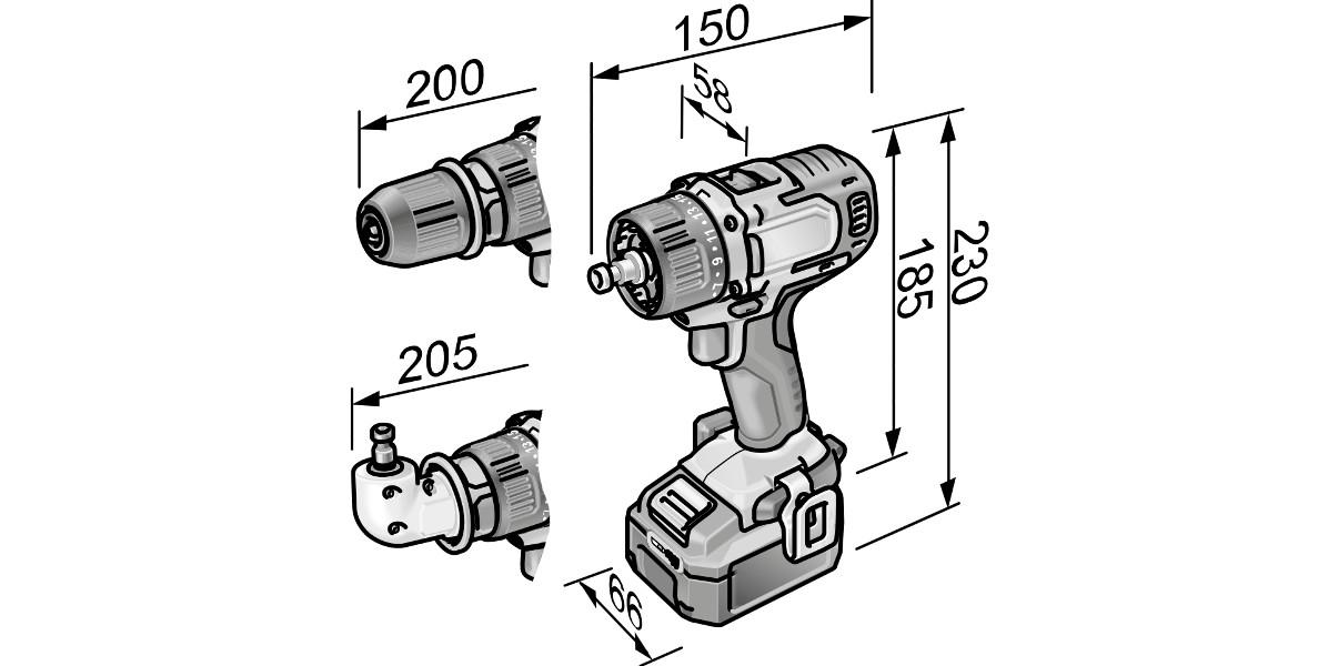 Borrskruvdragare. DD2G 10.8-EC