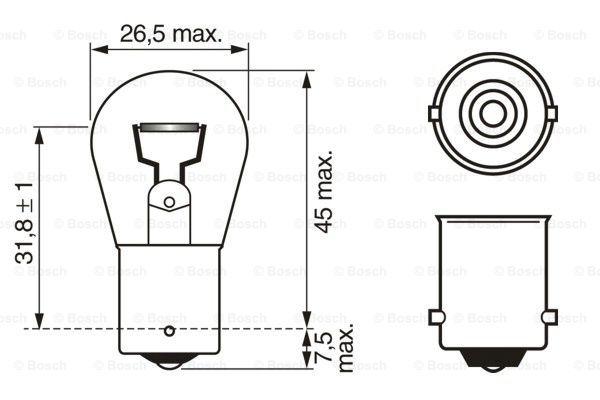 Glödlampa P21W 12V Pure Light