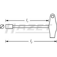 T-nyckel 10mm yttersexkant