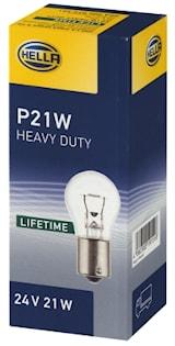 Glödlampa 24V P21W BA15s HD