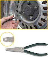 Tång för hjulmutterkåpa