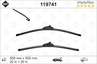 Flatbladesats 550/500