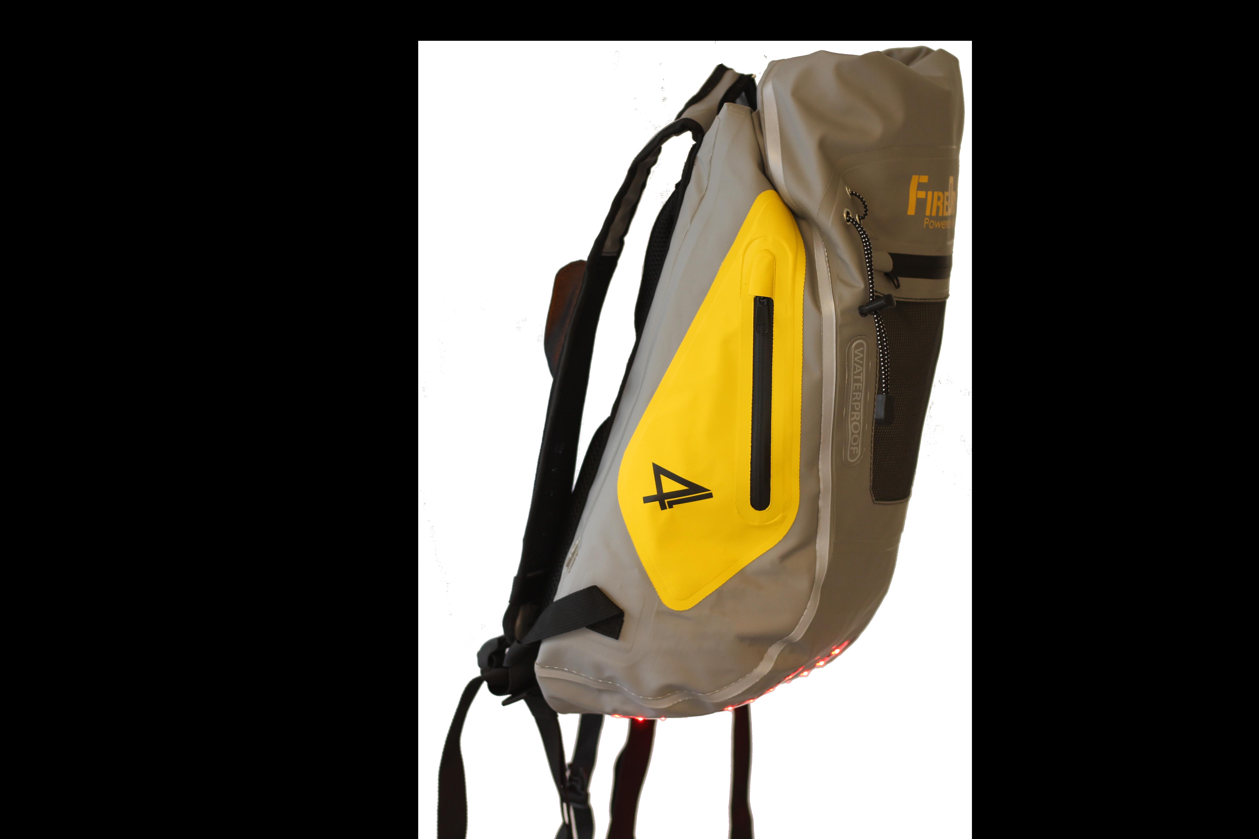 Ryggsäck Firedry grå/gul