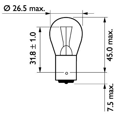 Glödlampa 24V 21W BA15s