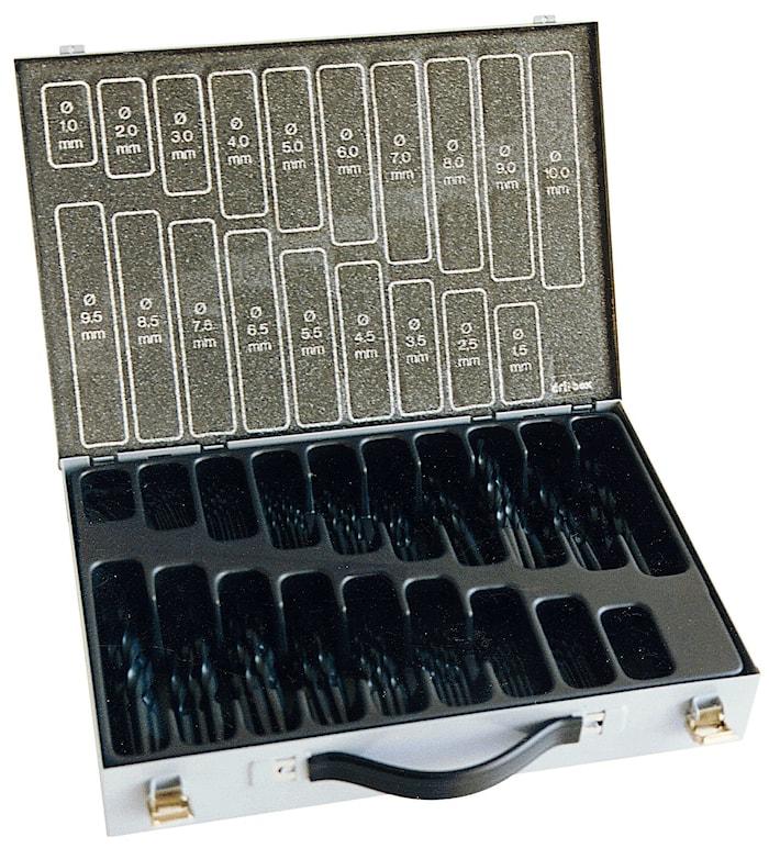 Borrkassett låda HSS 1-10mm