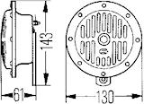 Starktonshorn 12V 380Hz 130mm