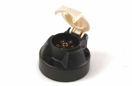 Stickdosa 7-polig skruv plast