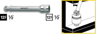 """Förlängare 1/2"""" 123mm med kula"""
