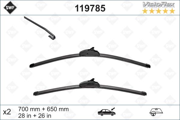 Flatblade set 700 + 650 mm