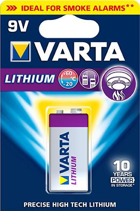 Batteri 9V Lithium