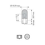 Glödlampa BV 12V 5W W2,1x9,5d