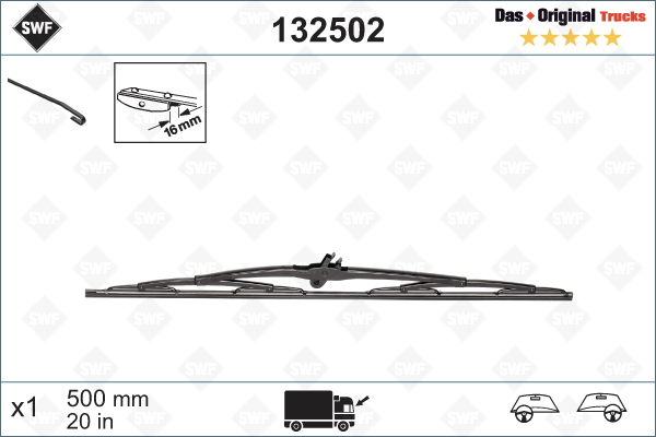 Torkarblad 500mm
