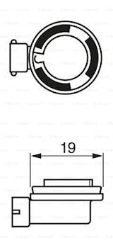 Halogen H8 35W 12V Pure Light