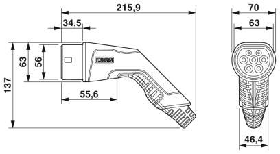 Laddkabel typ2, 32a, 3ac, 10m