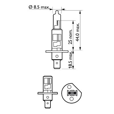 Halogenglödlampa H1 12V 100W