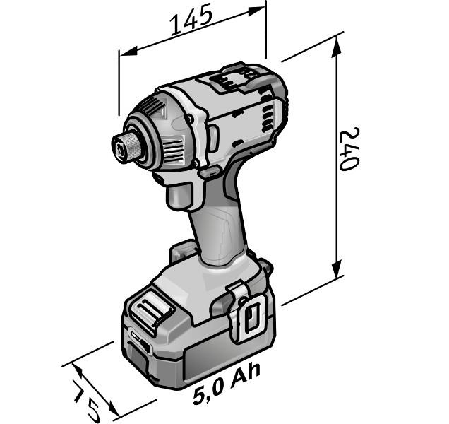 """Slagskruvdragare ID1/4"""" 18.0 V"""
