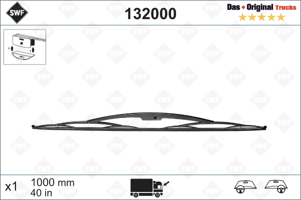 Torkarblad 1000 mm