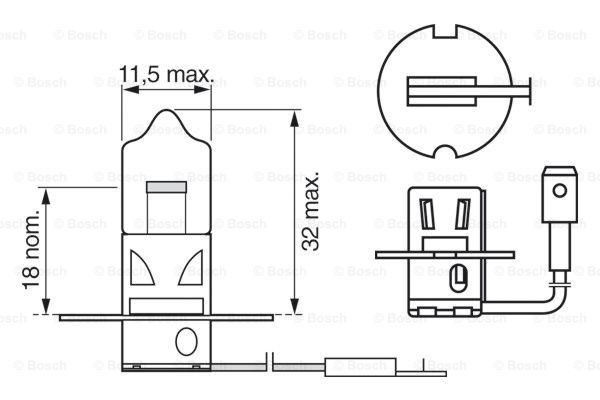 Halogen H3 12V 55W PK22s ECO