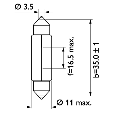 Glödlampa 24V 5W SV8,5