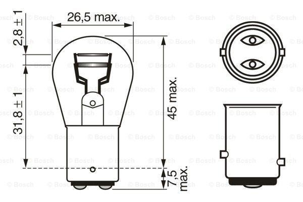 Glödlampa P21/5W 12V BAY15dECO