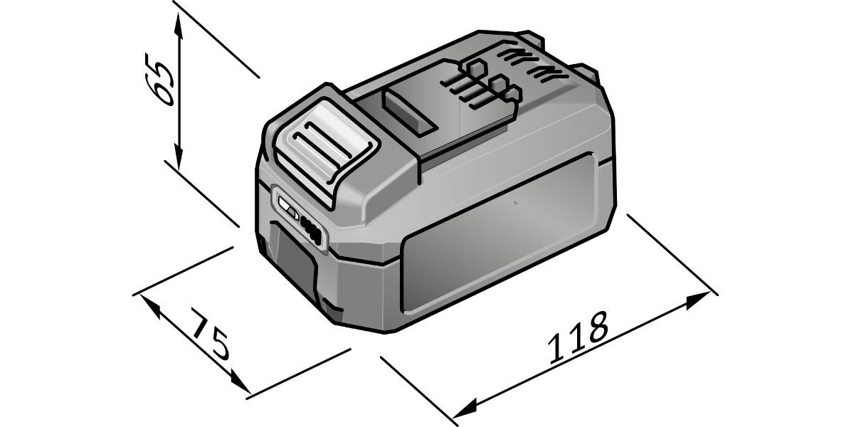 Batteri 18.0 / 5.0 Ah