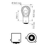 Glödlampa LL 12V 21W BAU15s