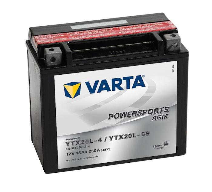 Batteri 18Ah MC YTX AGM
