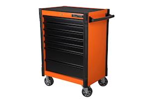 Verktygsvagn. 7 lådor. orange