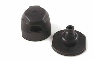 Stickdosa 13-polig skruv plast