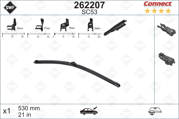 Flatblade SC53 530