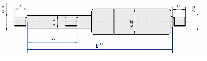 Gasfj B=670 A=300 2000N M10