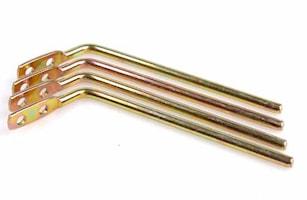 Hållare rak 100 mm 4-pack