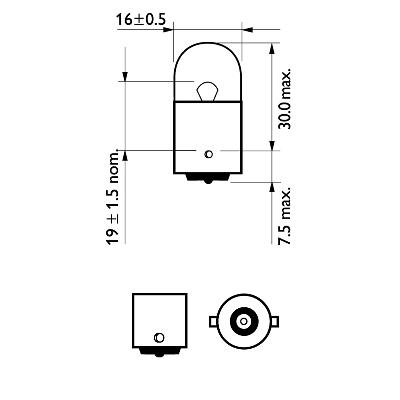 Glödlampa 12V 10W BA15s