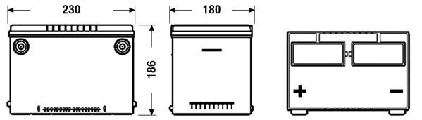 Batteri USA 55Ah 620cca
