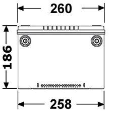 Batteri USA 70Ah 740cca
