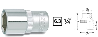 "Hylsa 1/4"" 10 mm"