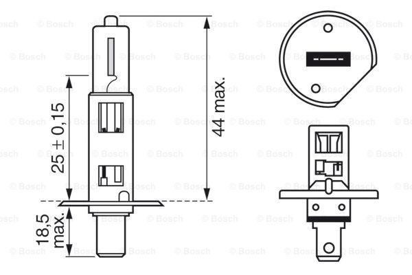 Halogen H1 12V 55W Pure Light