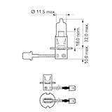 Halogenglödlampa H3 12V 100W