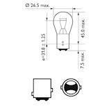 Glödlampa LL 12V 21/5W BAY15d