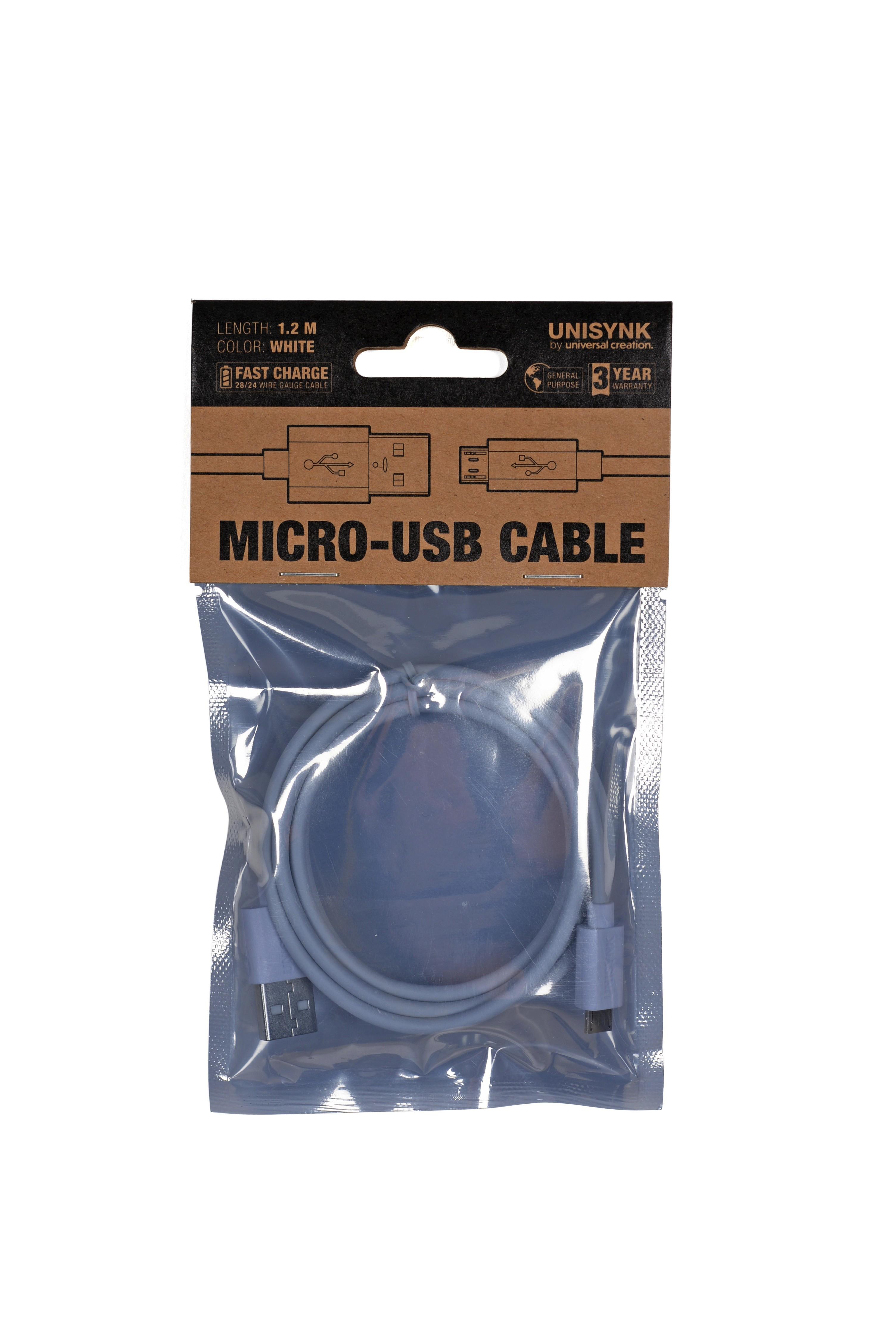 Micro USB 2,0 vit