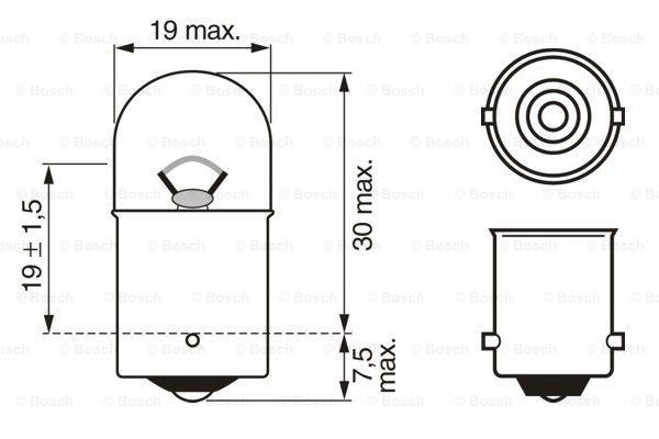 Glödlampa R5W 12V Pure Light