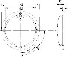 Innerbelysning 24V 180mm Ø