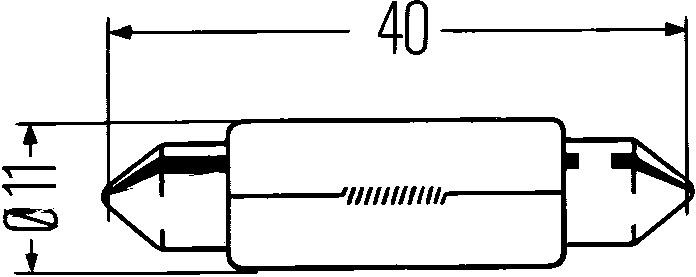Glödlampa 12V 18W SV8,5