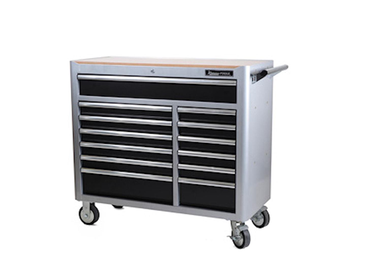 Verktygsvagn, grå, 13 lådor