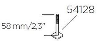 T-spårsskruv 58 mm