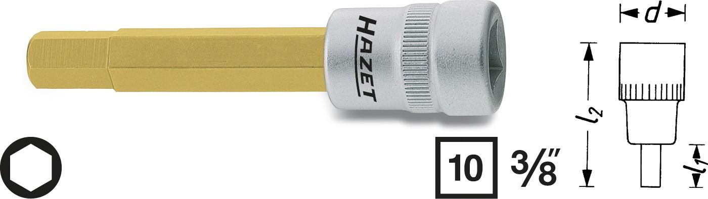 "Hylsa 3/8"" Insex 4mm"