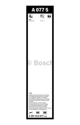 Flatbladesats A077S 750/500