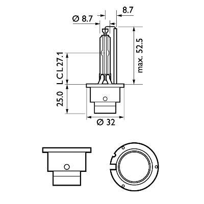 Gasurl.lampa D2S Vision