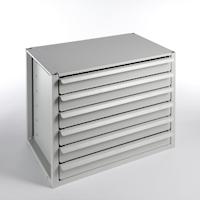 Lådmodul 6 lådor låsbar
