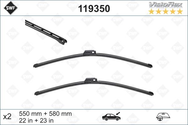 Flatblade set 550 + 580 mm